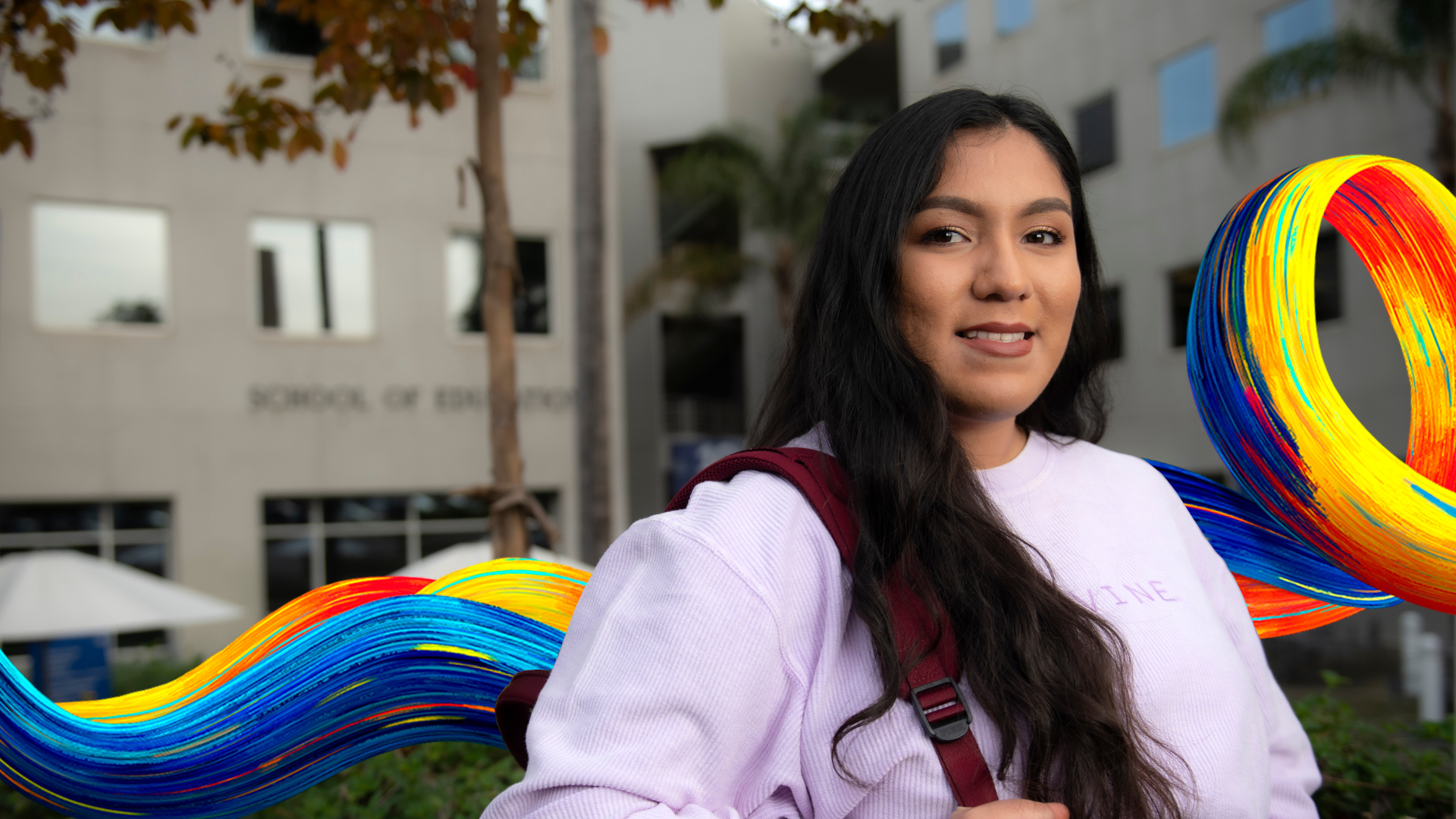 Jocelyne Munoz is a third year student in the school of Education photo:  Steve Zylius/UCI