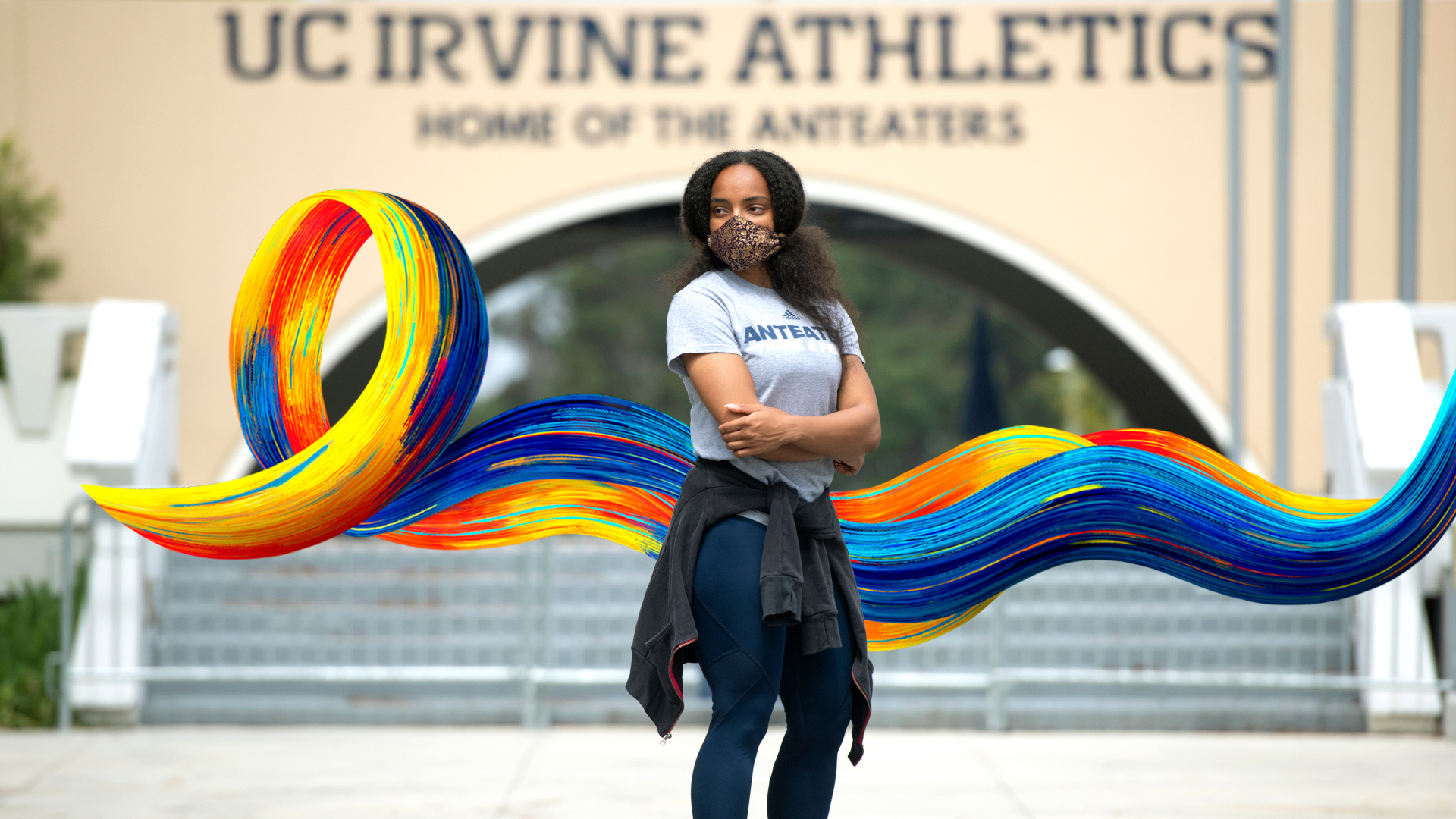 Zani Meaders is a sophomore track and field athlete whose season came to an end due to COVID. photo:  Steve Zylius